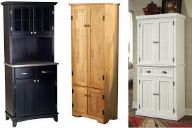 Pantry Cabinet Pantry Cabinet Storage With Retro Black Wooden Low - Black kitchen pantry cabinet