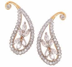 daily wear diamond earrings buy the jewelbox daily wear flower 18k gold plated ruby