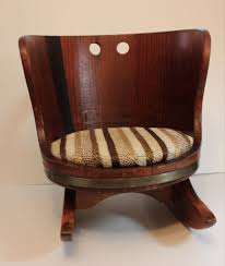 vintage childs wood barrel rocking chair putney vermont