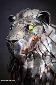 metal lion sculpture artstation mechanical articulated lion sculpture andrew