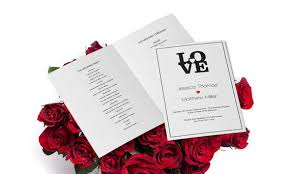 Wedding Ceremony Programs Diy Wedding Program Templates Editable Pdf 8 5 X 11 Black Love