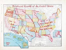 Map Of The United States In Color by Antique Color Map Of United States Expansion Growth U2014 Stock Photo