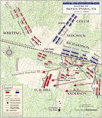 Battle Of New Orleans Map by Battle Of Seven Pines Peninsula Campaign Fair Oaks Civil War