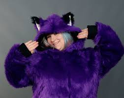Yip Yip Halloween Costume Pawstar Teddy Bear Hoodie Jacket Costume Cosplay Lain Brown