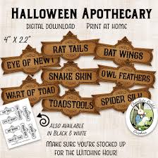 Free Printable Halloween Potion Labels by Halloween Apothecary Labels Printable Potion Labels Digital