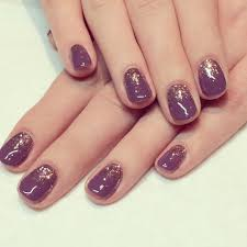 calgel nails purple with graduated glitter x nails pinterest