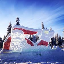 santa claus house north pole ak santa claus house north pole alaska ice sculpture at the santa
