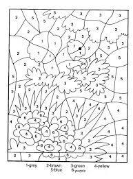 printable coloring pages color by number many interesting cliparts