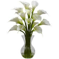 galla calla lily silk flower arrangement gifts ready to go