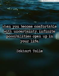Comfortable With Uncertainty Top 50 Eckhart Tolle Picture Quotes Rate A Quote
