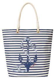 nautical tote c c nautical printed canvas white and blue tote