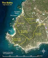 map of the bvi the baths gorda islands bvi