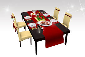 dinner table set second life marketplace christmas dinner table set v 01