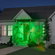 Halloween House Light Show gemmy lightshow projection spot light fire and ice green green