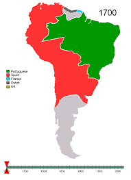Map Of North America And South America With Countries by File Non Native American Nations Control Over South America 1700