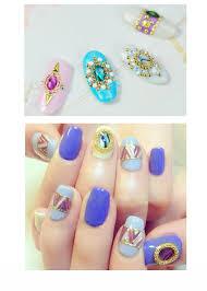 japan natural seashell nail art stone designs nail art saffron