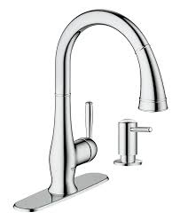 grohe 30216000 wexford single handle pull down spray head kitchen