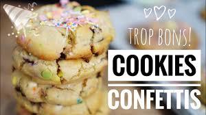 recette de cuisine cookies cookies confettis la recette bonheur à partager