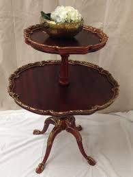 pie crust end table pie crust table 2 tier side table antique butler in 89 hton