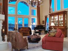 Drapes Living Room High Ceiling Curtains Living Room Traditional With Beige Sectional
