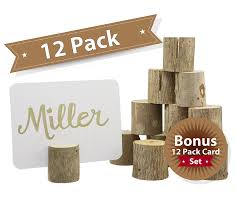 Table Card Holders by Amazon Com Happy Magnolia 12 Pack Wooden Place Card Holders With