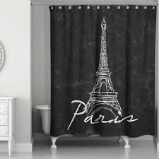 Shower Curtains With Writing Buy Black And White Fabric Shower Curtains From Bed Bath Beyond