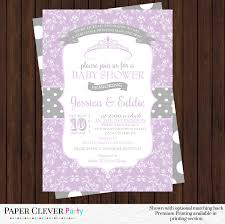 purple and grey baby shower invitations photo baby shower invitations image