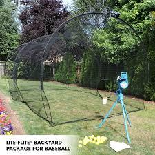 Batting Cage For Backyard by Jugs Sports Lite Flite Backyard Net Packages Bb Sb