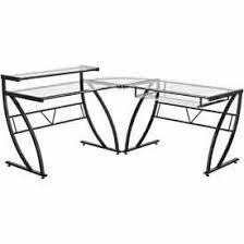 belaire glass l shaped desk item zl1441 1du cl price 119 90