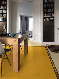 the lino of linoleum can be more chic and arty than
