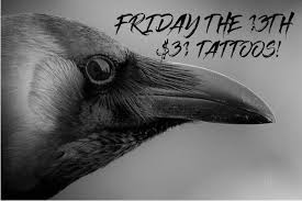 friday the 13th tattoos chance to win a free tattoo raven u0027s