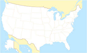 Labeled Map Of Us Of The United States Of America Without Names Us Map Without Usa