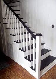 Painting A Banister White Remodelaholic Black And White Painted Staircase Transformation