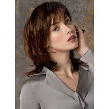 haircut for wispy hair mid length wispy bang haircut synthetic hair monofilament top lace