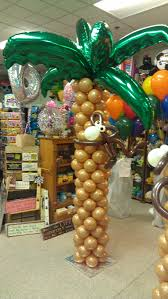 palm tree with monkey decor sculpture by balloonee toonz balloon