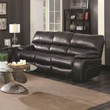 coaster 601934 willemse black leatherette uph motion sofa with