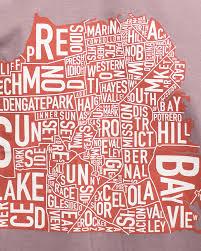 San Francisco Neighborhoods Map by San Francisco Neighborhoods Map Two Tone Unisex T Shirt