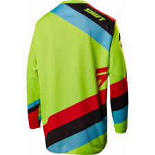 kids motocross jerseys shift white tarmac kids motocross jersey neon yellow 2017