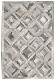 Gray Cowhide Rug Madisons Grey Parquet Pattern Patchwork Cowhide Rug Contemporary