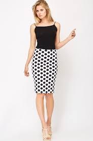 high waisted pencil skirt polka dot high waisted pencil skirt just 5