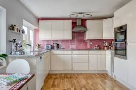 100 beautiful kitchens to inspire your kitchen makeover home info remember what we said about kitchen statement walls pink is another great color for that here s a kitchen that utilizes clear panels for the illusion of
