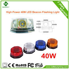 Cheap Emergency Lights New Led Rotating Beacon Light 40w Cob Beacon Warning Lights For
