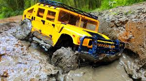 land rover defender 90 yellow rc extreme mud u2014 rc hummer h1 and land rover defender 90 u2014 rc