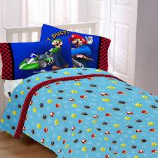 Mario Bros Bed Set Mario Bros The Race Is On Sheet Set Walmart