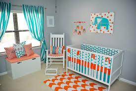 Bedroom Ideas Grey And Orange Side Shot Of The Nursery A Modern Teal Gray U0026 Orange Elephant