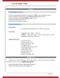 resume senior planning u0026 projects management engineer