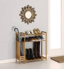Entryway Shoe Rack Amazon Com Organize It All 2983w1p Shoe Rack With Umbrella Stand