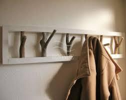 driftwood towel coat rack wall mount hanger modern scarf