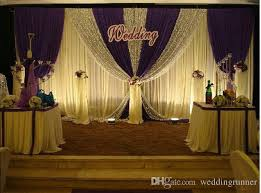 wedding backdrop fabric wedding decoations 3m 6m white color wedding backdrop curtain with