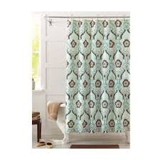 Green And Brown Shower Curtains Seafoam Green And Brown Newcastle Fabric Shower